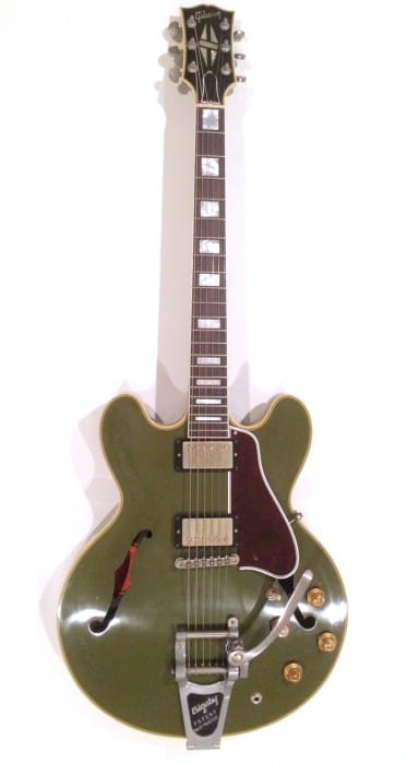 No.14 Gibson Memphis ES-355 Bigsby VOS 2015 Olive Drab Green / name:Patrick