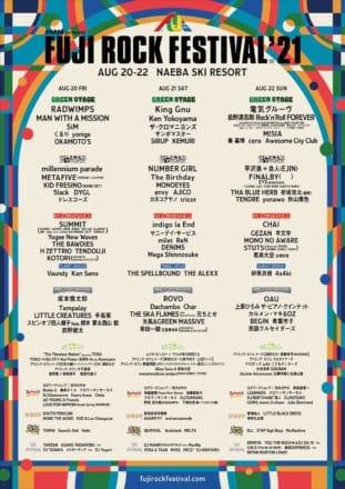 Ken Yokoyama「FUJI ROCK FESTIVAL '21」出演決定!